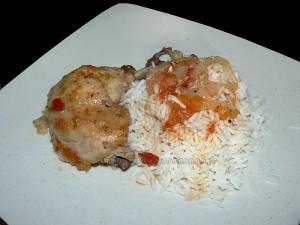 Poulet façon creole presentation