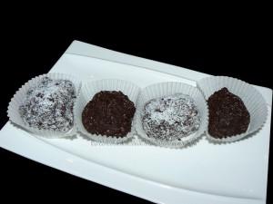 Truffes aux biscuits Granola presentation