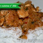 Poulet à la pâte de curry rouge