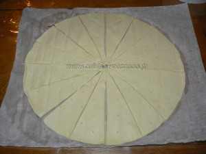 Mini croissants au saumon fume et fromage frais etape1