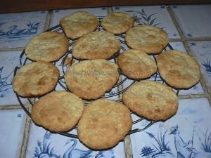 Cookies au chocolat blanc fin
