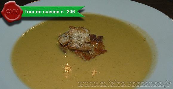Soupe de courge Butternut orangée