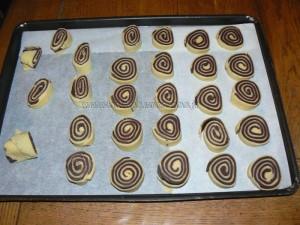 Sables pur beurre nature et chocolat etape5