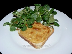 Welsh rarebit presentation