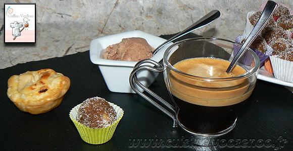 Café gourmand, crémeux, fondant et croquant !! une