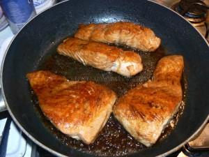 Saumon sauce soja fin