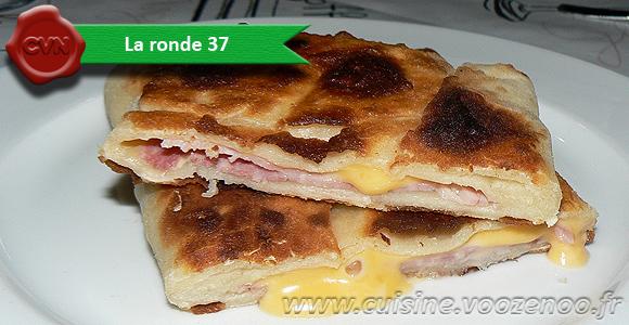 Naans jambon fromage une