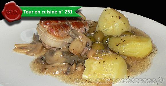 Paupiettes de veau aux olives une
