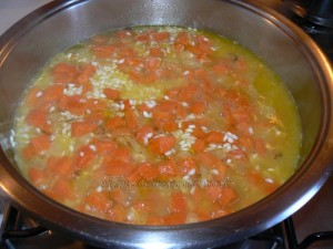 Risotto aux carottes etape2