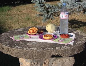 Tartelettes aux tomates cerises, parmesan et basilic fin