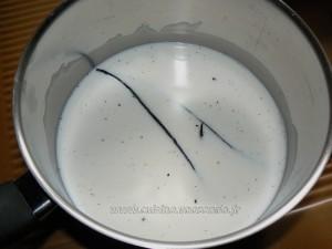 Glace à  la vanille maison avec sorbetière etape1