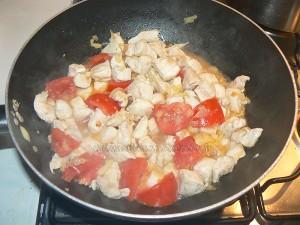 Wok de chou chinois (psé-tai) au poulet et gingembre etape4