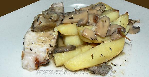 Rouelle de porc et pommes de terre au four une