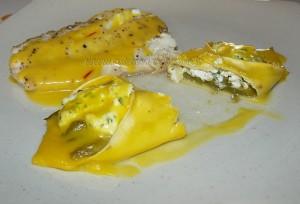 Lasagnes aux asperges, sauce safranée fin