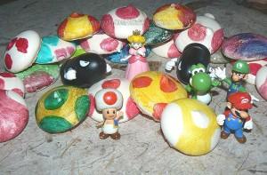 """Meringues """"Chapeaux de Toad"""" fin"""