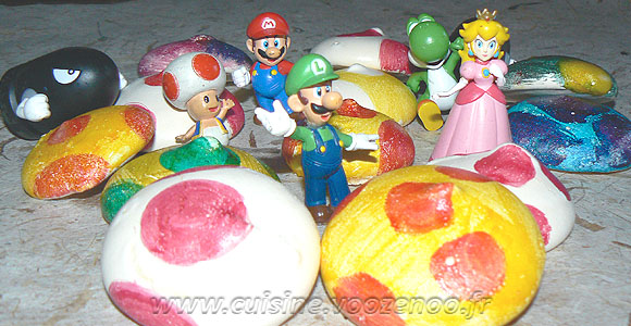"""Meringues """"Chapeaux de Toad"""" une"""