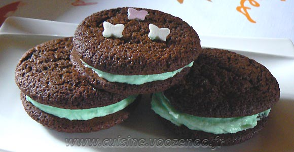 Biscuits double choco-menthe