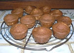 Muffins aux pommes caramelisées, beurre salé fin
