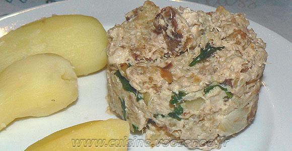 Delice au thon pain et mascarpone une