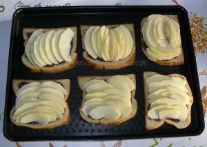 Crumble de pommes en tartines gourmandes etape2