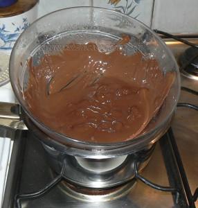Fondant au chocolat etape1