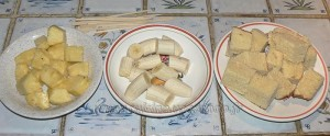 Brochettes de brioche perdue, fruits et sauce au chocolat etape5