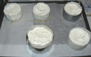 Cheesecake salé, legumes et basilic etape4