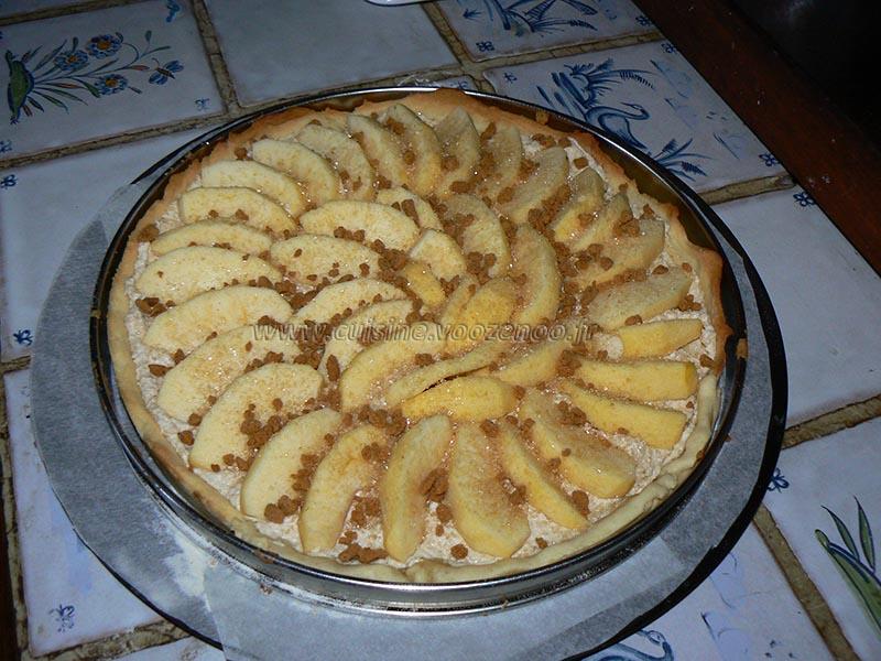 Tarte banane mascarpone speculoos