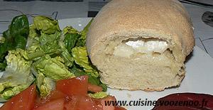 pain blanc italien au coeur de chêvre une