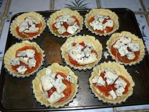 Tartelettes à la tomate et fourme d'Ambert etape3