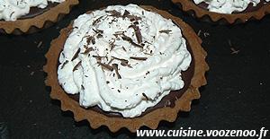 Tartelettes choco-coco, chantilly à la crème de coco une