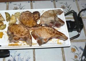 Côtes de porc et legumes marines etape 4