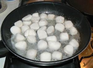 Galettes de sarrasin, noix st jacques et gambas persillés au beurre demi-sel etape4