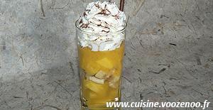 Cappuccino de fruits exotiques une