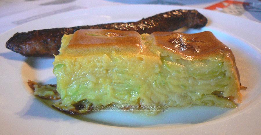 Gâteau invisible aux courgettes slider