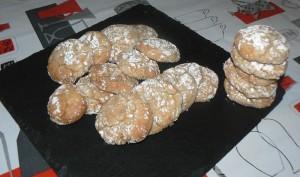 Amaretti à la crème de marron presentation