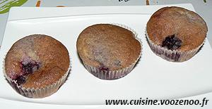 Muffins aux mûres une
