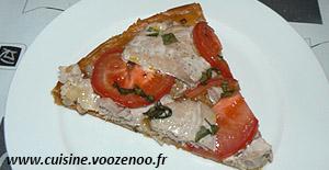 Tarte feuilletée fine au thon frais et tomates une