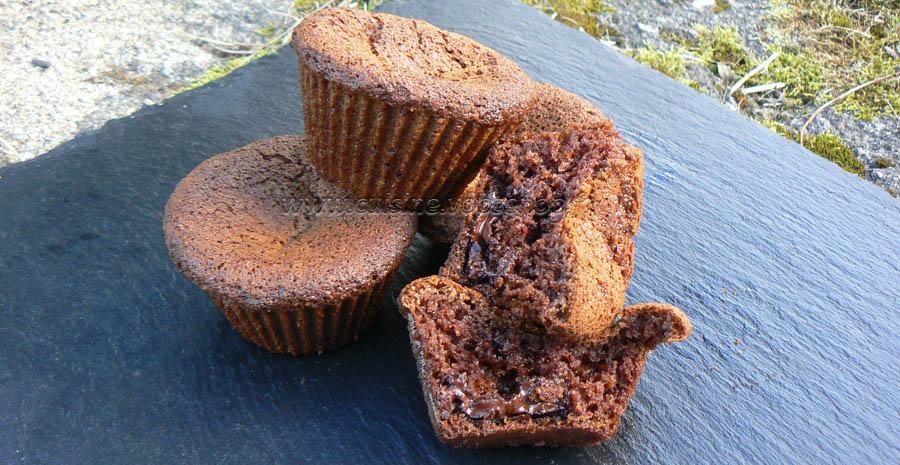 Muffins crème d emarron coeur de chocolat slider