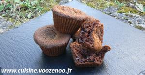 Muffins crème d emarron coeur de chocolat presentation