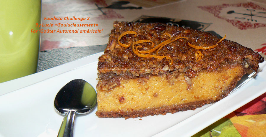 Tarte aux patates douces, topping noix de pecan slider