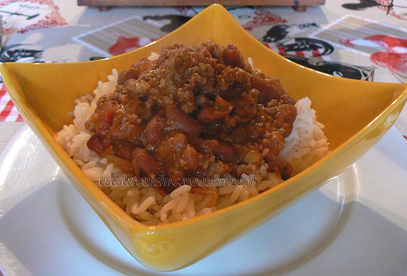 chili con carne express une cuisine pour voozenoo. Black Bedroom Furniture Sets. Home Design Ideas