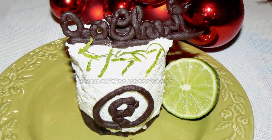 Cheesecake au citron vert et chocolat slider