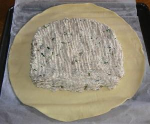 Feuilleté de saumonette au brocciu coulis epice etape4