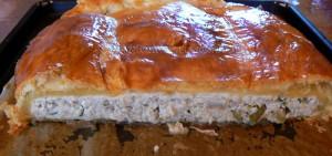 Feuilleté de saumonette au brocciu coulis epice fin2