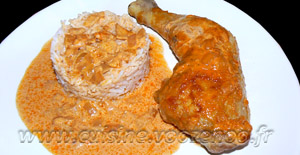 Cuisses de poulet au paprika en papillotes