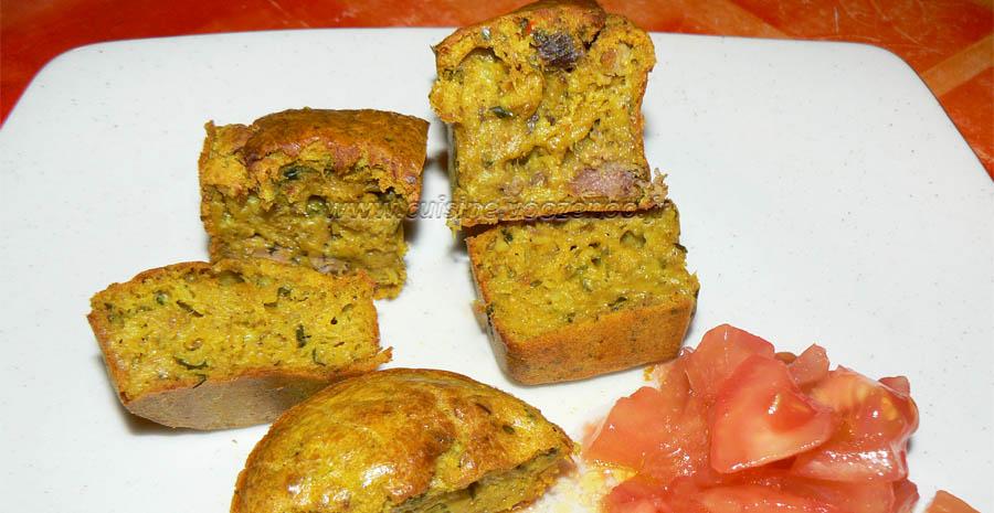Mini cake au thon épicés slider