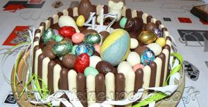 Gâteau au chocolat, Finger et fruits rouges pour Pâques … ou pas !
