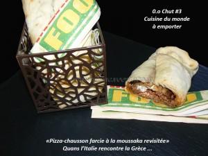 Pizza-chausson farcie à la moussaka revisitée presentation