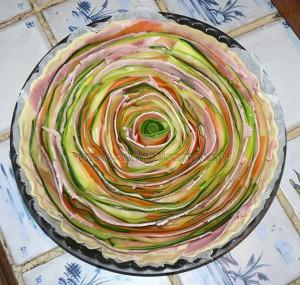 Tarte spirale aux courgettes et carottes etape3
